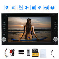 In dash Double 2 din LCD Touch Screen Car DVD player car Audio Bluetooth, Black Win 6 Ui Design Free GPS Antenna+free GPS Map