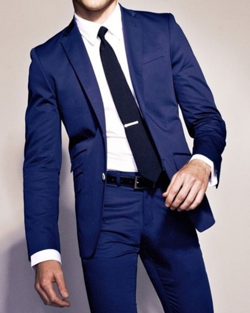 (Jacket+Pants) Cream Mens Suits Wedding Groom Royal Blue Mens Suit Tuxedo Latest Coat Pant Designs Terno Masculino