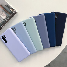 Original Liquid Silicone Phone Cases For Huawei P20 P30 Pro Lite Mate 20 Y9 2019 Nova 4 Case Soft TPU Back Cover Capa Shockproof(China)