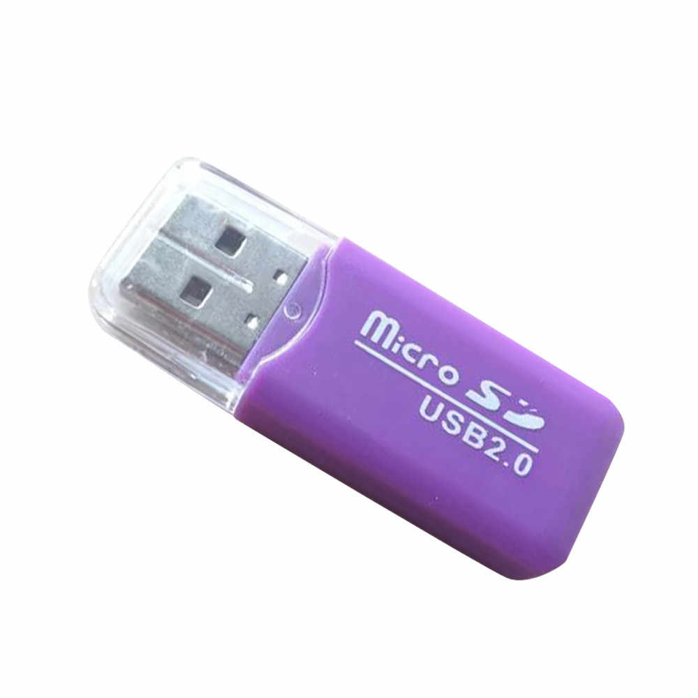 Venda quente 2 pces usb 2.0 micro sd sdhc tf flash leitor de cartão de memória mini adaptador para portátil fácil para transportar muito agradável