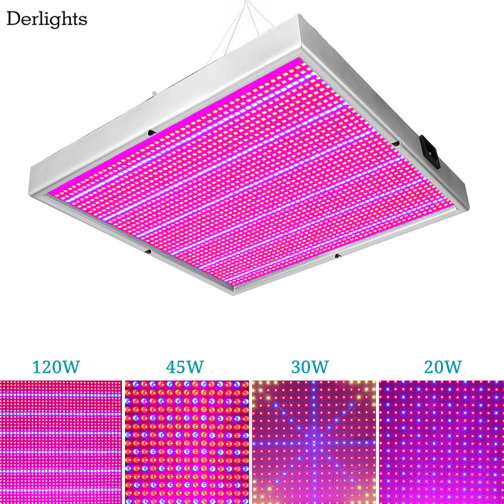 20W/30W/45W/120W/200W Led grow Panel light Full Spectrum for indoor greenhouse plants flowers grow tent hydroponics Plant light 2016 new led grow panel 165w led grow light 1131red 234blue led plant lamp for flowers grow box tent greenhouse grows lighting