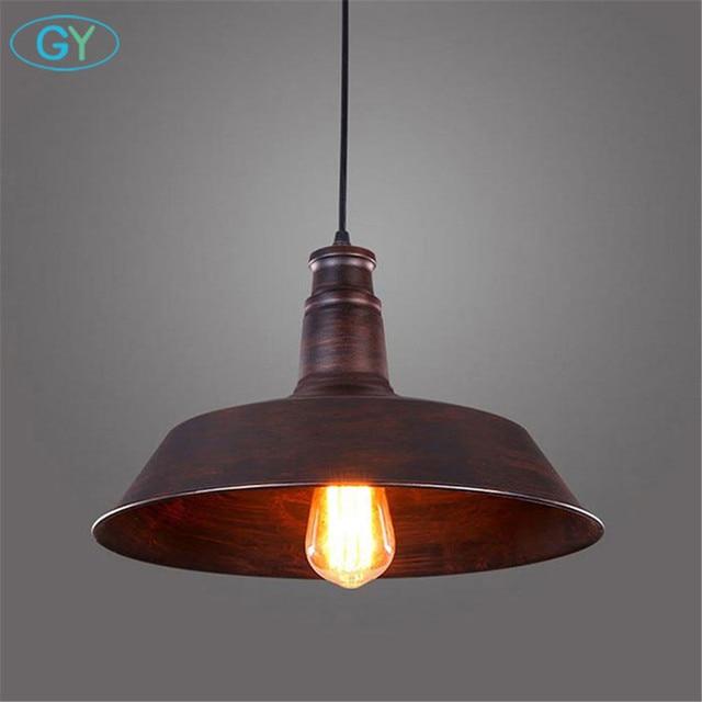 edison pendant lighting. Vintage Rustic Metal LED Pendant Lamp Edison Lights Retro Lustre Hanging Lampe Fixture Industrial Lighting L