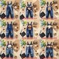 Mejor Calidad Nuevo 2014 niños del verano lindo baby & kids pantalones vaqueros de los mamelucos de mezclilla monos mono ropa fijada para las niñas y niños