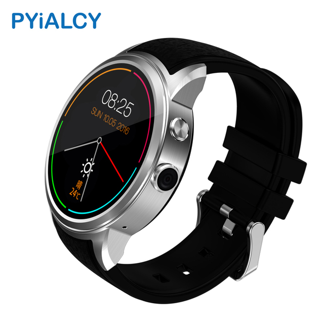 PY200 Smart Watch Android 5.1 MTK6580 Quad Core 8G ROM Smartwatch Clock Heart Rate Monitor Support 3G WIFI GPS Nano SIM Card