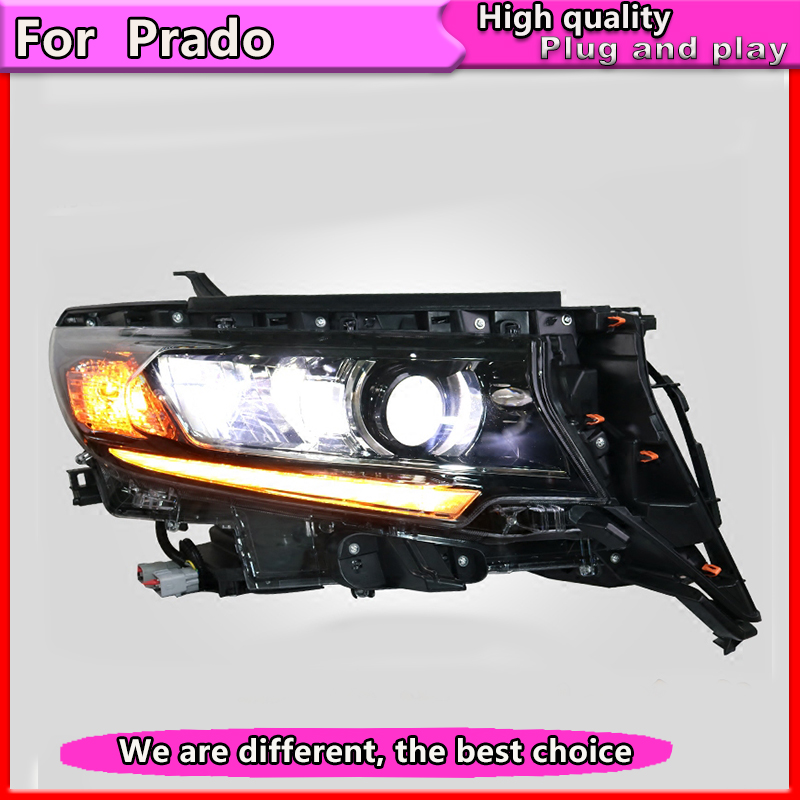 Car Styling for Prado Front light Headlights for Toyota Prado LC200 2018 LED headlight Dynamic turn signal DRL High Low lamp LED