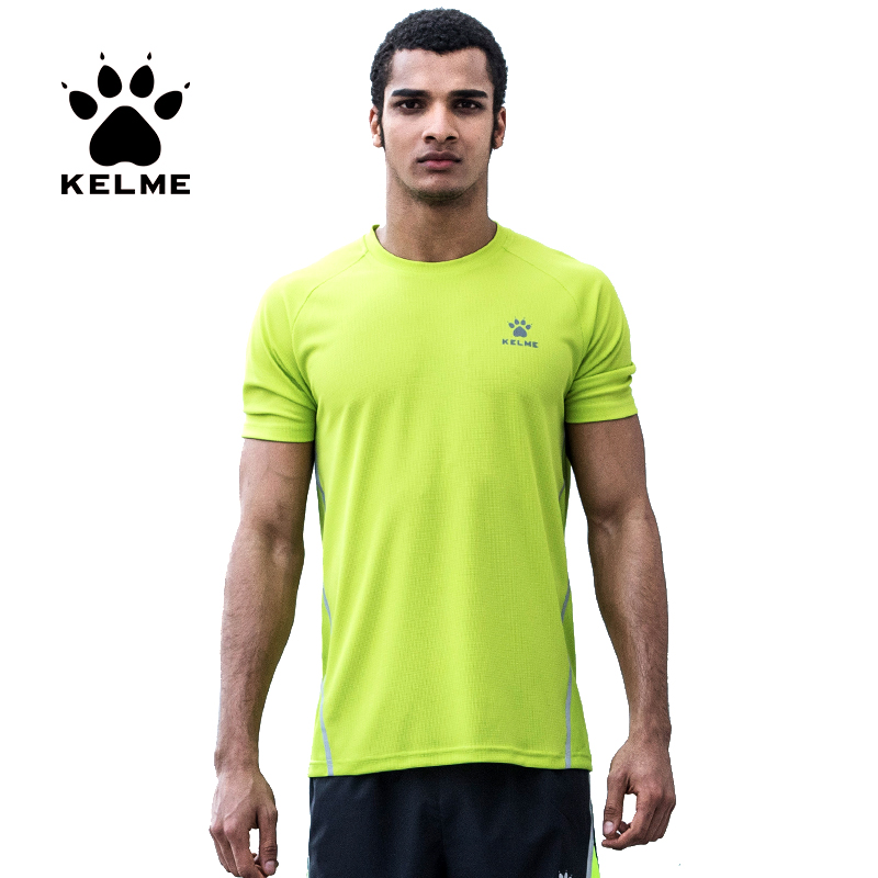 KELME Sports Short Sleeve Running T shirts For Men Summer New Breathable Quick Dry Run Fitness