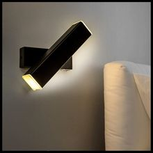Embedded Rotating Retro New Chinese Bedroom LED Wall Light Hotel Clubhouse Project Bedside Reading