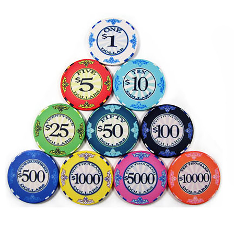 10 PCS/LOT High Quality Ceramic Poker Chips 12g/pcs Value Casino Chips Texas Holdem Poker Wholesale Poker Club Chips