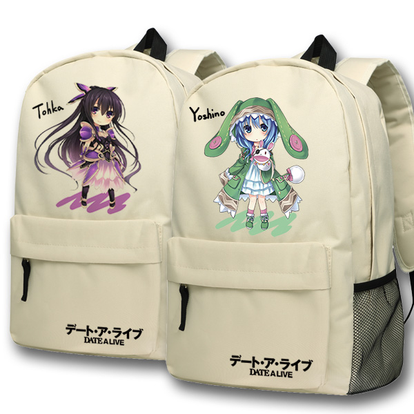 Anime DATE A LIVE Cosplay Itsuka Kotori backpack Anime cartoon campus high school primary school students bag shoulder bag backp anime lovelive cosplay minami kotori cos2017 new japanese male and female middle school students big picture shoulder bag