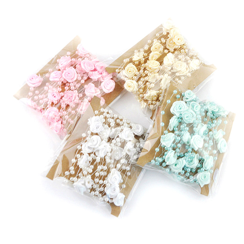 m hecho a mano rose del banquete de boda accesorios de perlas cadena de la