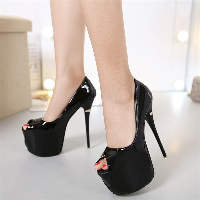 Femmes Taille Super Pompes Grande Toe Plate Peep De Mariage Noir Hauts Chaussures Talons forme Chaton blanc rouge 3440 À Femme m8w0nN