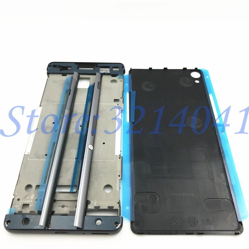 Image 2 - Full Housing Middle Front Frame Bezel Housing For Sony Xperia XA F3111 F3112 F3115+ Side Rail Stripe with Side Buttons+Logo-in Mobile Phone Housings & Frames from Cellphones & Telecommunications