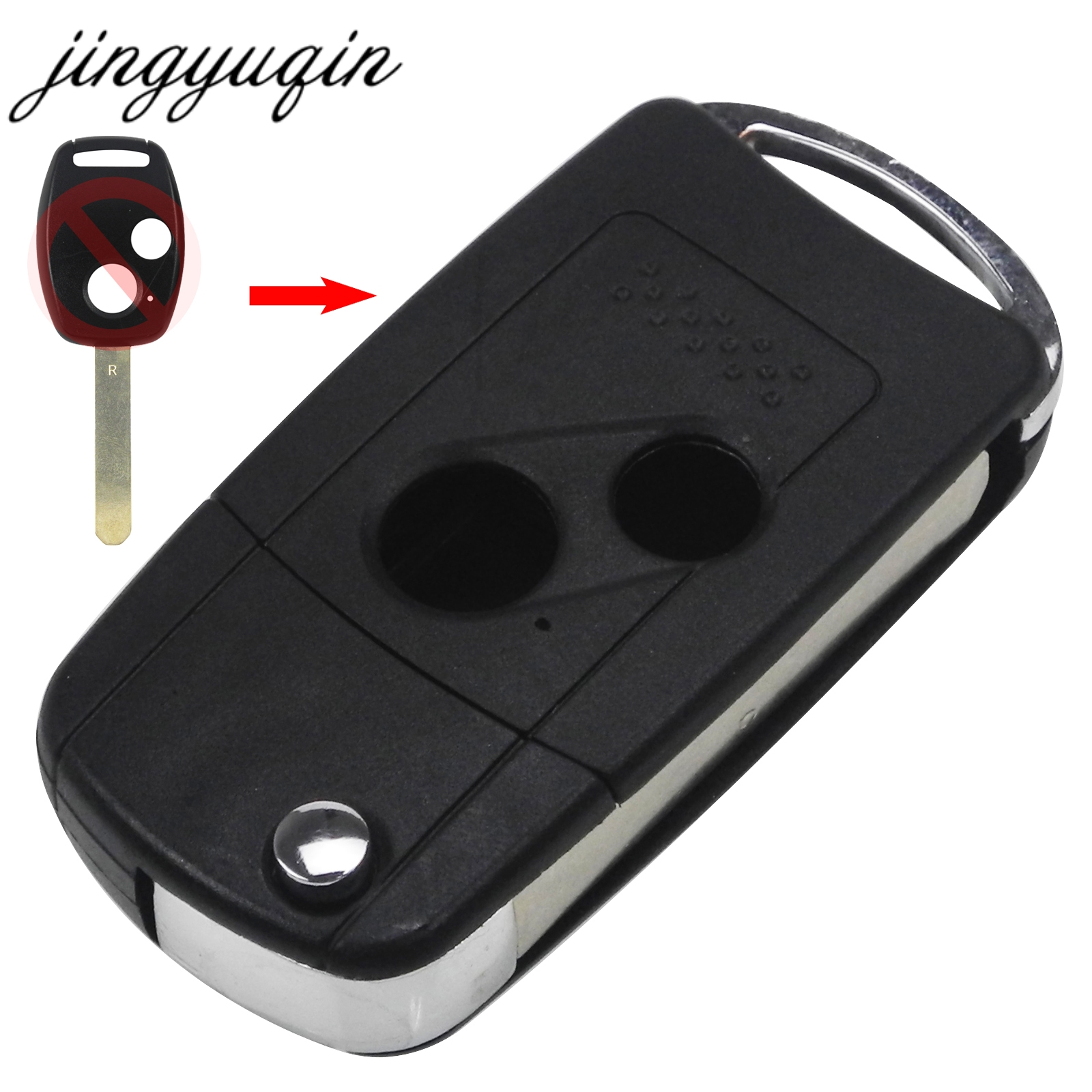 jingyuqin 10pcs lot Remote 2 Button Flip Folding Key Shell Case Cover For Honda CRV Accord