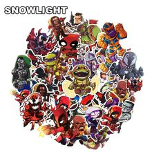 50Pcs Marvel Cartoon Sticker Waterproof For Laptop Moto Skateboard Luggage Guitar Furnitur Decal Toy Stickers(China)