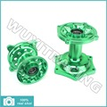 06 07 08 09 10 11 12 13 14 Green Complete Front Rear New Motorcross MX Wheel CNC Hub Set for Kawasaki KX125 KX 250 KXF250 KX450F