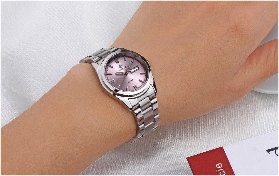 WWOOR women watches luxury Ladies Watches Waterproof Date Quartz Stainless Steel Girls Wristwatch reloj mujer relogio feminino in Women 39 s Watches from Watches