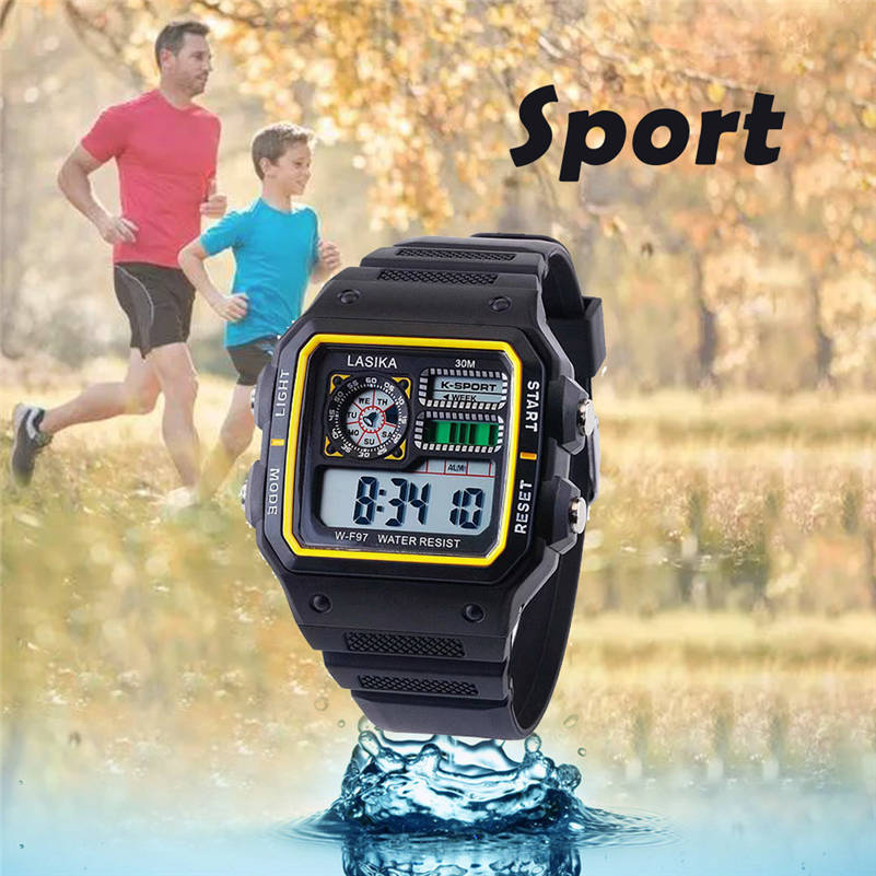 Electronic Watches Square Multi-Function Outdoor Fashion Brand LASIKA Student Sport 661S4