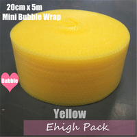 20cmx5m Yellow Heart-shape mini Air Bubble Roll Party Favors And Gifts Packing Foam Roll Wedding Decoration Emballage Bulle Warp