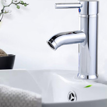 modern contracted copper electroplating Cold + hot basin mixer Basin faucet tap washbasin free shipping