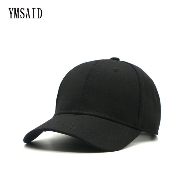 Ymsaid Women s Cap Men Solid Unisex Black Women Men s Dad Hat Men Female Cap  White Snapbacks Baseball Caps Summer 9b8ea0a11