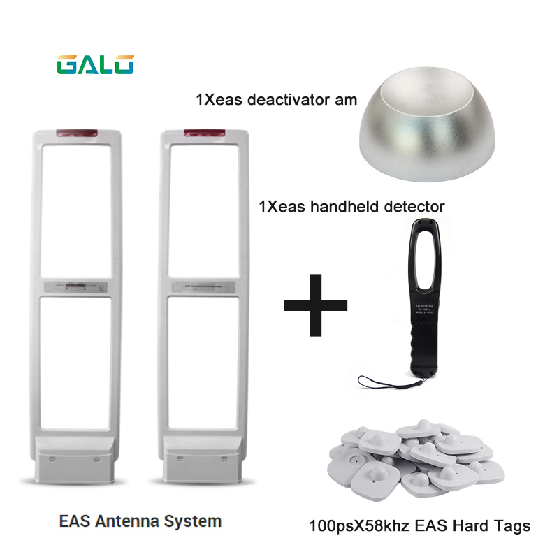 High Quality EAS Antenna EAS Security System With Hard Labels Tags & Deactivator & Handheld Tester