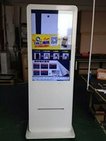 webchat or instogram photo All in one printer with lcd hd touch digital signage player/free standing video digital display