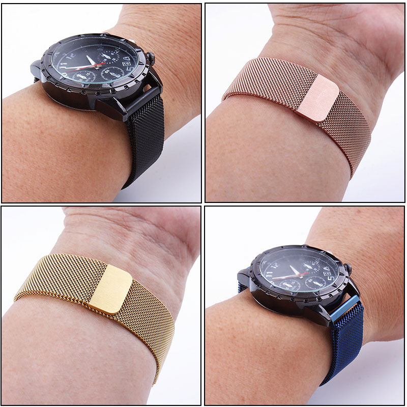 Universal Milanese Magnetic Metal strap 20mm 22mm For Samsung Galaxy Watch 42mm 46mm For Samsung Gear S2 S3 watchband 14-24mm 3