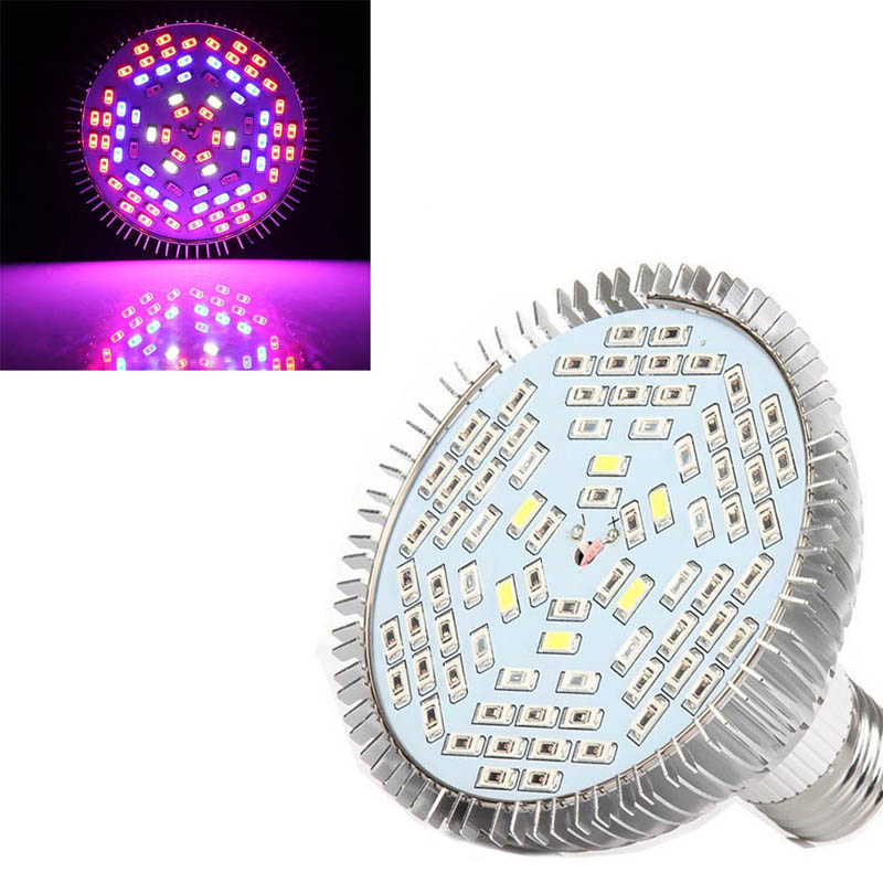 Full Spectrum 40/78/120 LED Grow Light Bulb E27 For Plants Vegetables Flower Hydroponic System Grow Tent AC85-265V Hoga --M25