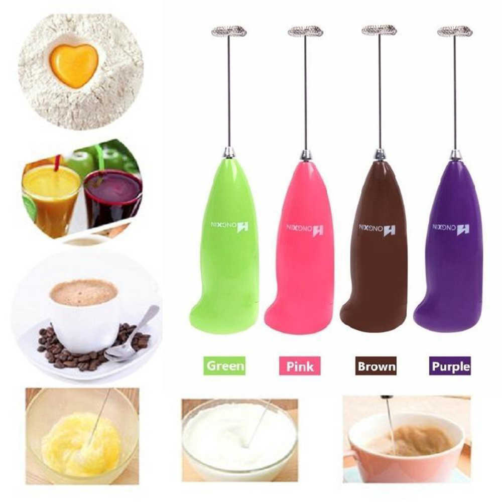 Electric Handle Coffee Milk Egg Beater Whisk Frother Stirrer Mini Mixer Agitator