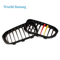 German flag type racing grille 1 slat kidney grill for 2015 IN BMW 1 series f20 f21 hatchback 116d M140i 118i 120d