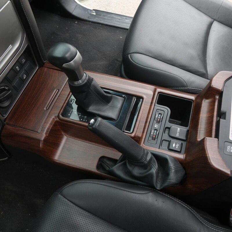 Gelinsi pour Toyota Prado 2018 voiture style bois support de verre panneau couverture garniture cadre autocollant accessoires d'intérieur - 2