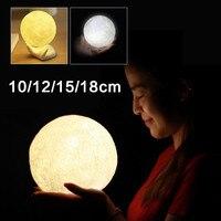 3D Moon Lamp USB LED PLA Night Light Warm Moonlight Touch Sensor Decor Luces LED Decoracion