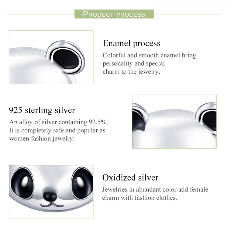 HTB15O3fgyMnBKNjSZFzq6A qVXa5 BAMOER Genuine 100% 925 Sterling Silver Animal Collection Cute Panda Stud Earrings for Women Sterling Silver Jewelry SCE386
