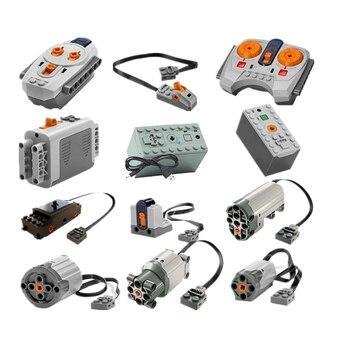 تكنيك وظائف السلطة موتور مجموعة IR RX TX مضاعفات صندوق بطارية بناء كتل الطوب لعب الاطفال للأطفال متوافق