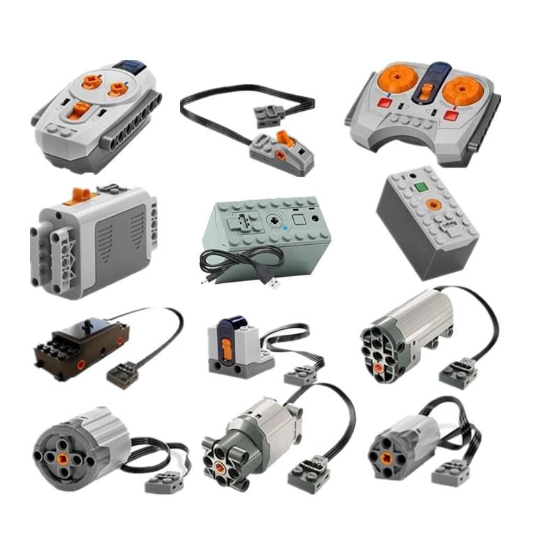 Técnica funciones de potencia Motor IR RX TX Servo de la caja de batería de bloques de construcción ladrillos juguetes de los niños para los niños Compatible Legoings