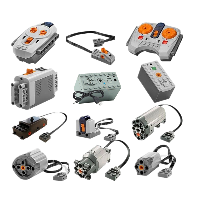 Technic Power Funktionen Motor Set IR RX TX Servo Batterie Box Bausteine Ziegel Kinder Spielzeug für kinder Kompatibel Legoings