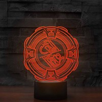 7 Colors Change 3D Music Table Lamp Led Visual Office Atmosphere Decor Band Light Fixture Kids