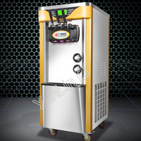 5.8L*2 Commercial Soft Ice Cream Machine 2100W Automatic Vertical Stainless Steel 3 Color Soft Ice Cream Machine BJH228CWD2