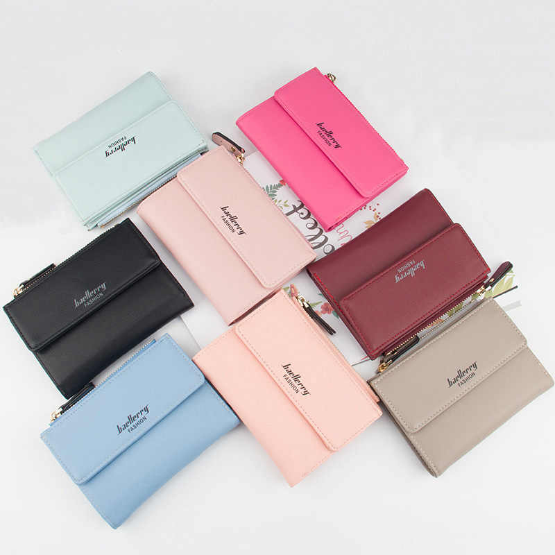 ... Hot Fashion Women s Purse Thin Zipper Women s Wallet Ladies PU Leather  Purse Female Small Mini Card bd697fe9e042