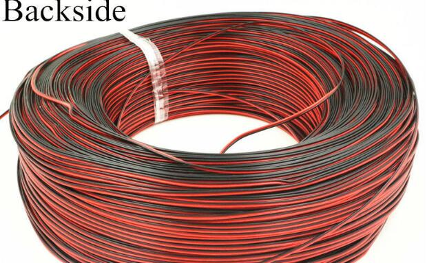 10 Meters-Tinned copper 24 AWG, 2 pin cable,Stranded wire PVC insulated wire, LED Strip cable Electric Extend Wire for gg A+ 1m 15mm flat tinned copper braid sleeve screening tubular cable diy