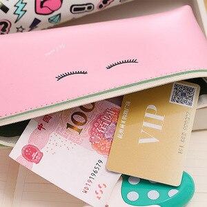 Image 3 - 20 adet Kawaii kalem kutusu Modern kız PU hediye Estuches okul kalem kutusu kalem kutusu kalem çantası okul malzemeleri kırtasiye