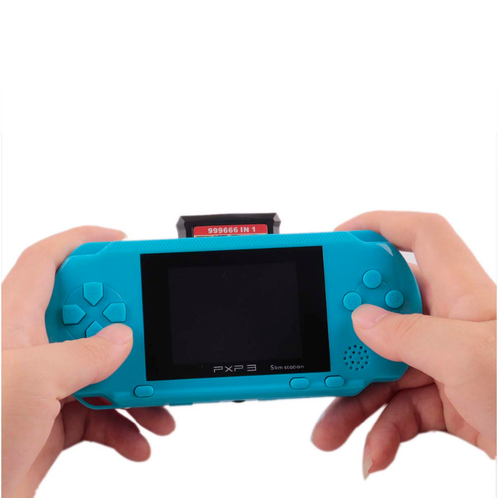 Portable 16 Peu PXP3 De Poche Joueur de Jeu Vidéo Console de Jeu avec AV Câble + 2 Jeu Cartes Classique Enfant Jeux PXP 3 Mince Station