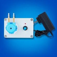 Micro bomba peristaltica com taxa de fluxo ajustável, mini bomba elétrica de doagem para laboratório químico