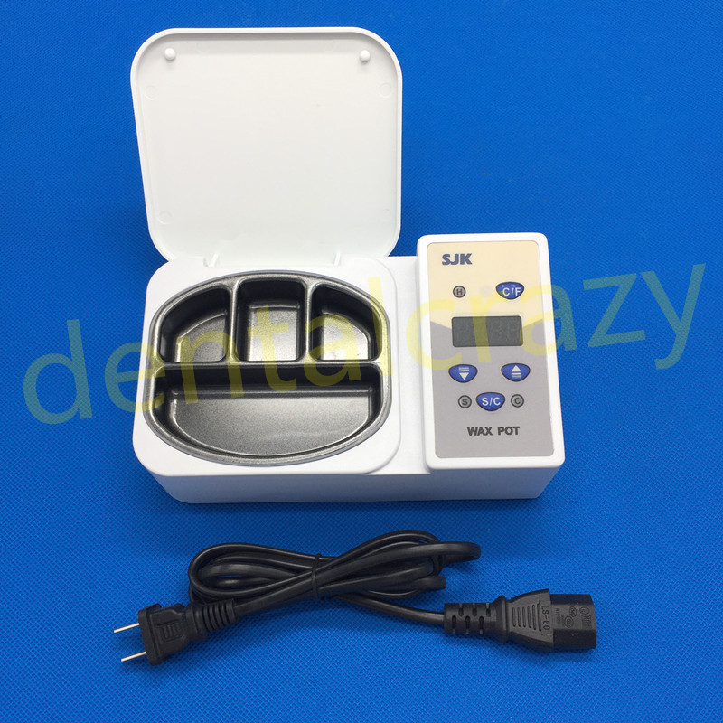 Dental LED Display 4 Well Wax Heater Dipping Pot Portable Analog Heater Dental Lab Equipment