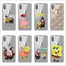 SpongeBob SquarePants and Patrick Soft Silicone TPU Phone Cases Cover For iPhone 11Pro MAX 5S SE 6 6SPlus 7 8Plus X10 XS XR