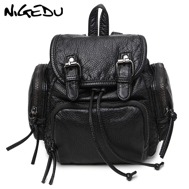 Mini Women Backpack High Quality Soft PU Leather School Bags For teenager casual lady bag knapsack female traveling backpack bao sunny shop new flower women drawstring backpack fashion school lady casual print backpack high quality pu leather school bag