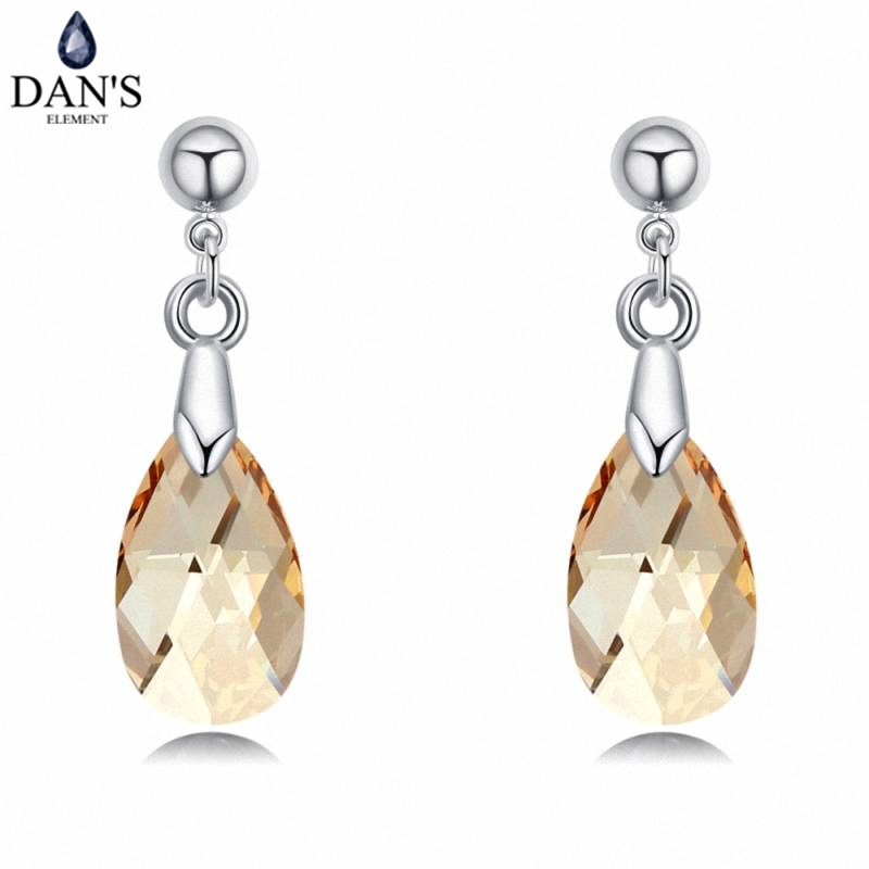 DANS 5 Colors Real Austrian crystals Stud earrings for women Earrings s New Sale Hot Round 130286