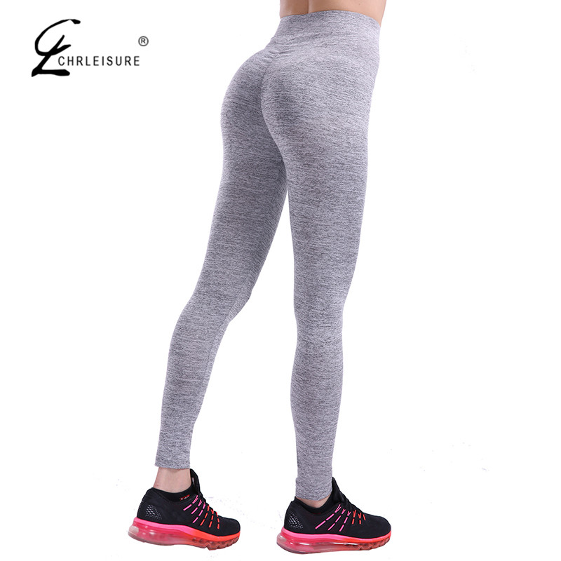 CHRLEISURE Autumn Push Up Leggings For Women Sportwear Workout Leggins Polyester Bodybuilding Leggins Jeggings S-XL 7 Colors