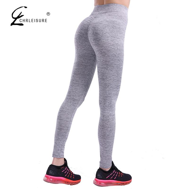 CHRLEISURE Autunno Push Up Leggings per Le Donne Sportwear Allenamento Leggins Poliestere Bodybuilding leggins Jeggings S-XL 7 Colori