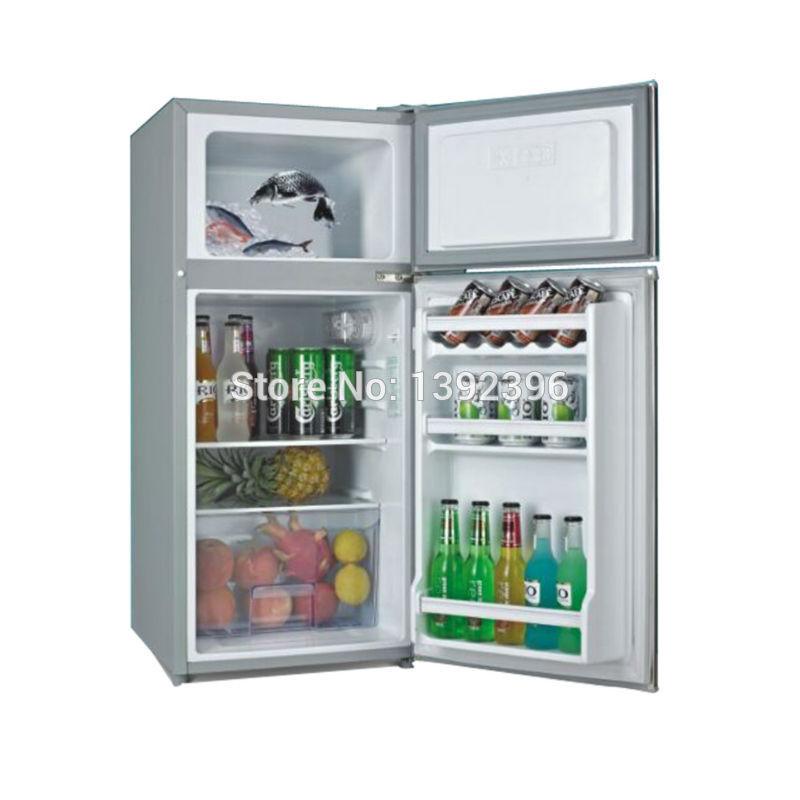 US $380 26 |Solar compressor fridge cosmetic refrigerator refrigerant 12v  automoble refrigerator soalr panel freezer 108L-in Refrigerators from